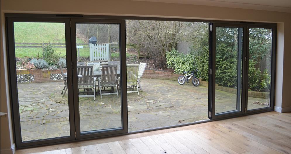 Panoramic Views Using A 6 Part Bi Fold Door In Dark Grey ...